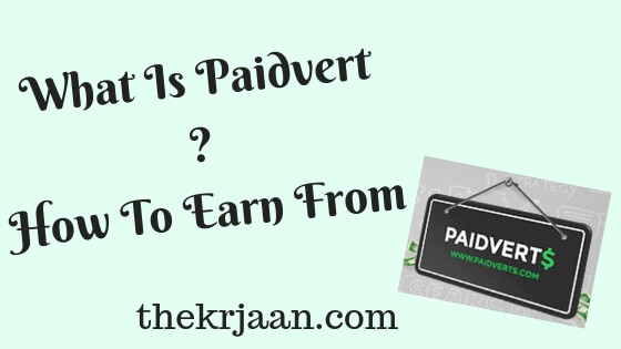 What Is Paidvert | How To Earn From Paidvert